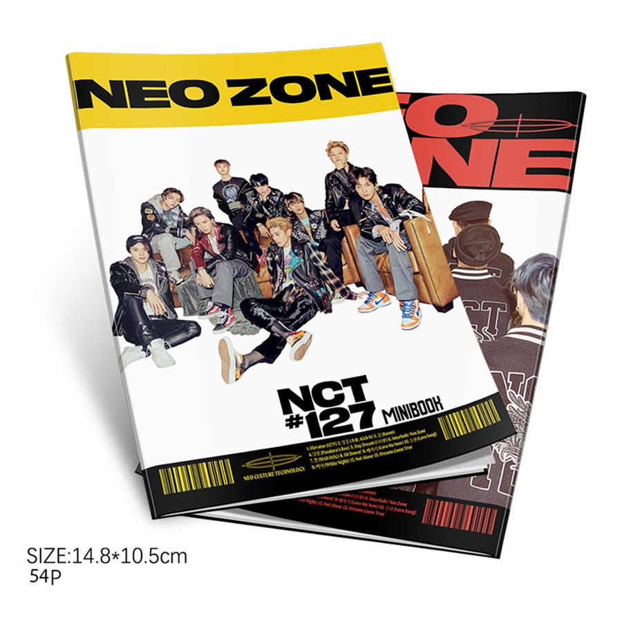 Kpop NCT127 Neo Zone Album Mini Photo Book NCT MARK TAEYONG HD Photograph Poster