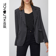 Toyouth 2020 Sping Women Long Sleeve Loose Office Lady Suit Retro Hong Kong Styl