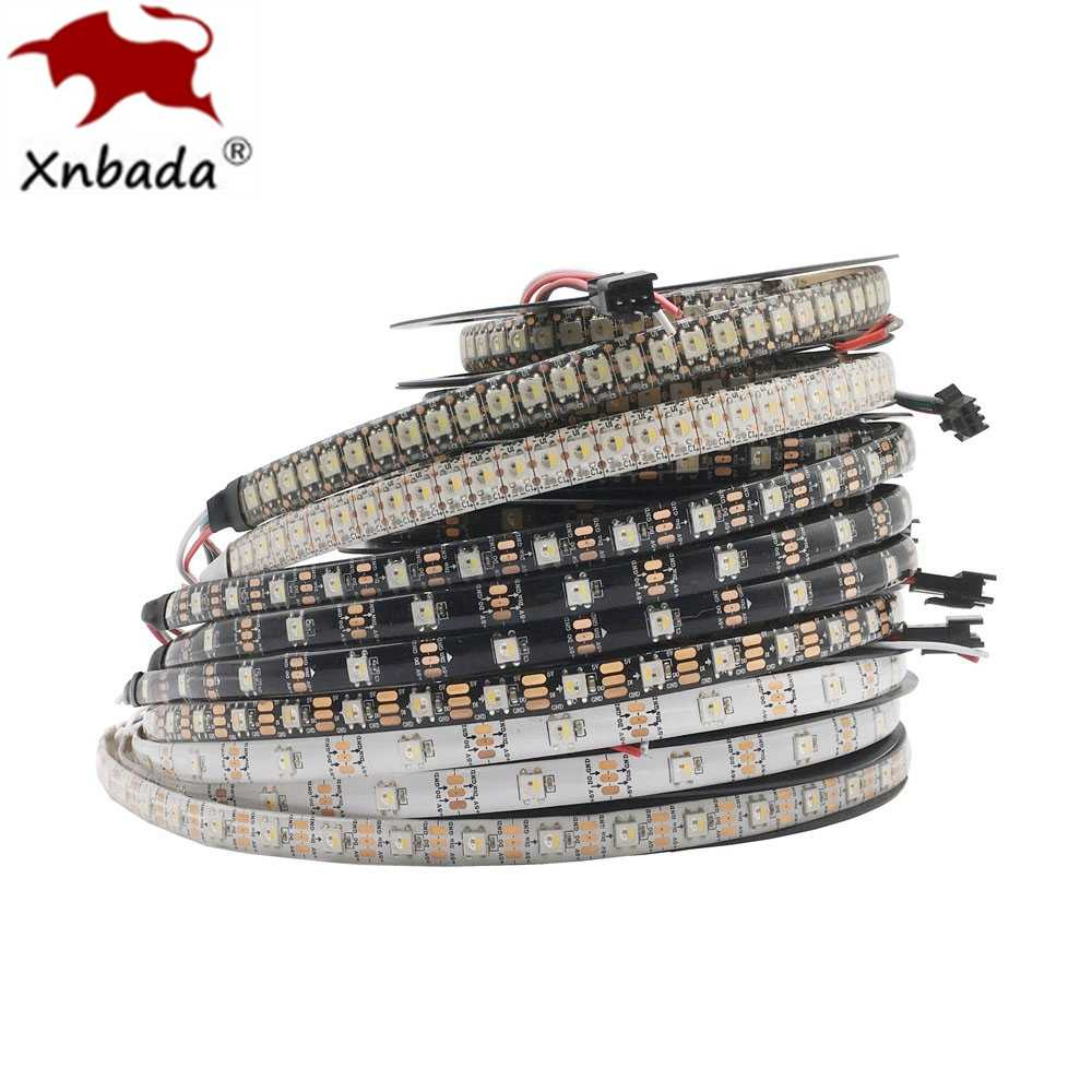 LED Strip SK6812 (Terjemahan WS2812B) RGBW 4 In 1 30/60/144 LED/Piksel/M Individu Addressable IC Lampu LED IP30 /IP65/IP67 DC5V
