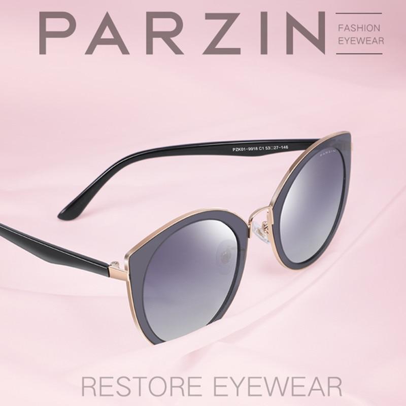 PARZIN Luxury Polarized Sunglasses Women lightweight TR90 Frame Coating Mirror Lens Summer Women's Sunglass Brand Designer Women's Sunglasses  - AliExpress