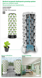 Vertical aeroponics hydroponics growing system which can be customized as per customer demand