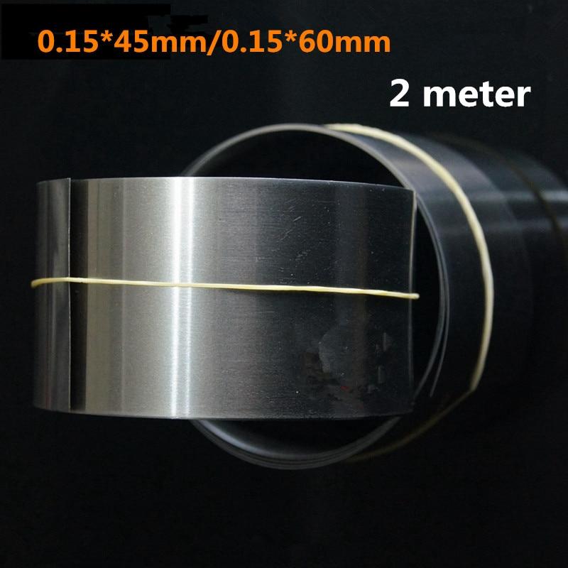 2 Meter 18650/26650/32650 Battery Spot Welder Nickel Belt 0.15*45mm/0.15*60mm Nickel Plated Steel Strip Connecting Nicke Piece