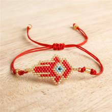 Go2boho Perles MIYUKI Evil Eye Bracelet Fatima Hamsa Hand Bracelets Women Delica Beads Jewelry Pulsera Mujer 2019 Handmade Boho