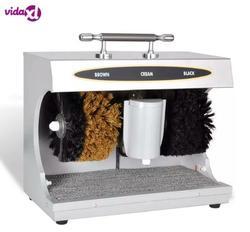 VidaXL электрическая машинка для чистки обуви, полировальная машина для кожаной обуви, автоматическая машина для чистки обуви, набор кистей дл...