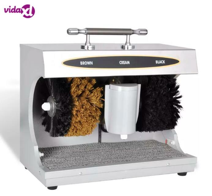 VidaXL Electrical Shoes Cleaner Polisher Leather Shoe Automatic Cleaning Machine Kit Shoe Shine Brush Set Device