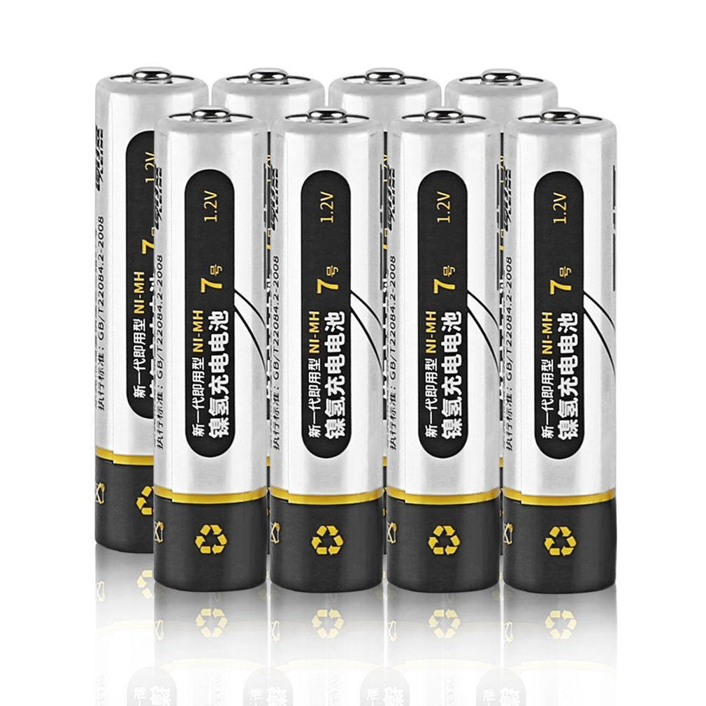 8pcs Immediacy Ni-MH <font><b>Rechargeable</b></font> Battery 1.2V <font><b>AAA</b></font> <font><b>1000mAh</b></font> Environmentally Friendly Low Consumption Battery For Toy And Mouse image
