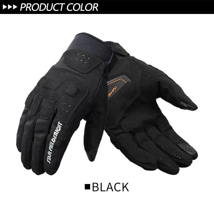 para pantallas t/áctiles Guantes de moto unisex para verano protecci/ón antiderrapantes OUYAWEI accesorios de auto 2XL negro transpirables