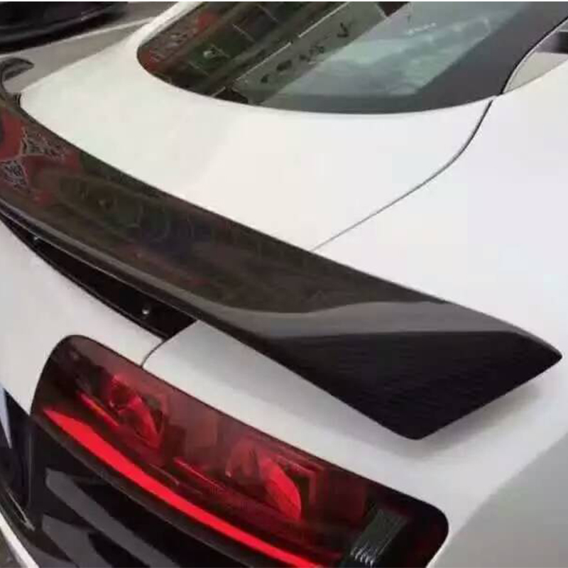 Image 5 - R8 GT Style Carbon Fiber Auto Car Rear Trunk Spoiler Wing for Audi R8 GT Wing 2007 2016trunk spoiler wingspoiler wingtrunk spoiler -