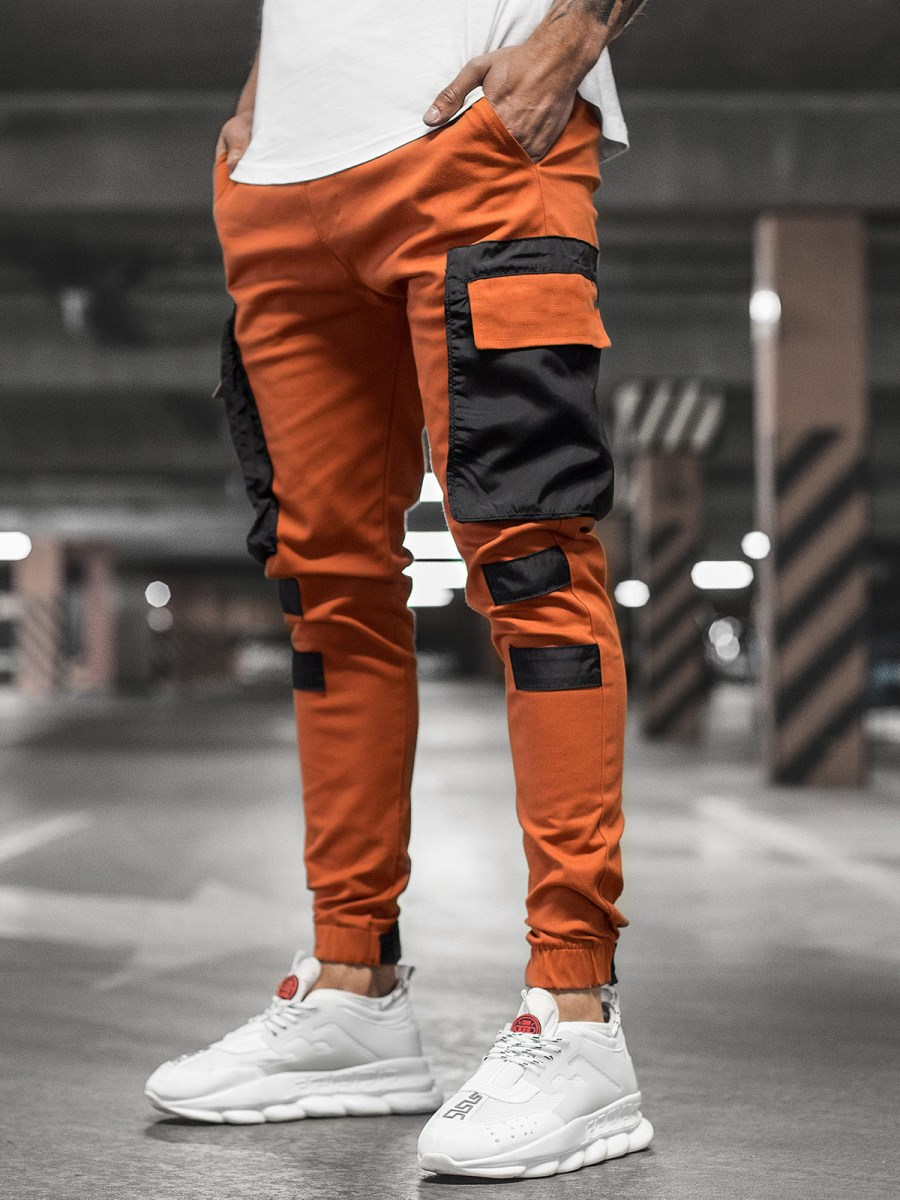 Autumn Side Pocket Joggers Man Khaki Grey Black Hip Hop Streetwear Cargo Pants Mens Sweatpants Casual High Street Harem Pants