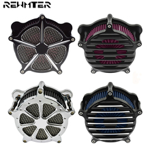 Air Filter Intake Cleaner Filter Motorcycle CNC Crafts For Harley Sportster 883 1200 Touring Dyna Softail Road King Fat Boy FLHX triclicks new turn signal lights lenses round cover lens motorcycle light covers car covers for dyna softail sportster touring