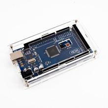 ضميمة صندوق أكرليك شفاف لامع متوافق مع علبة اردوينو ميجا 2560 R3 بدون لوح