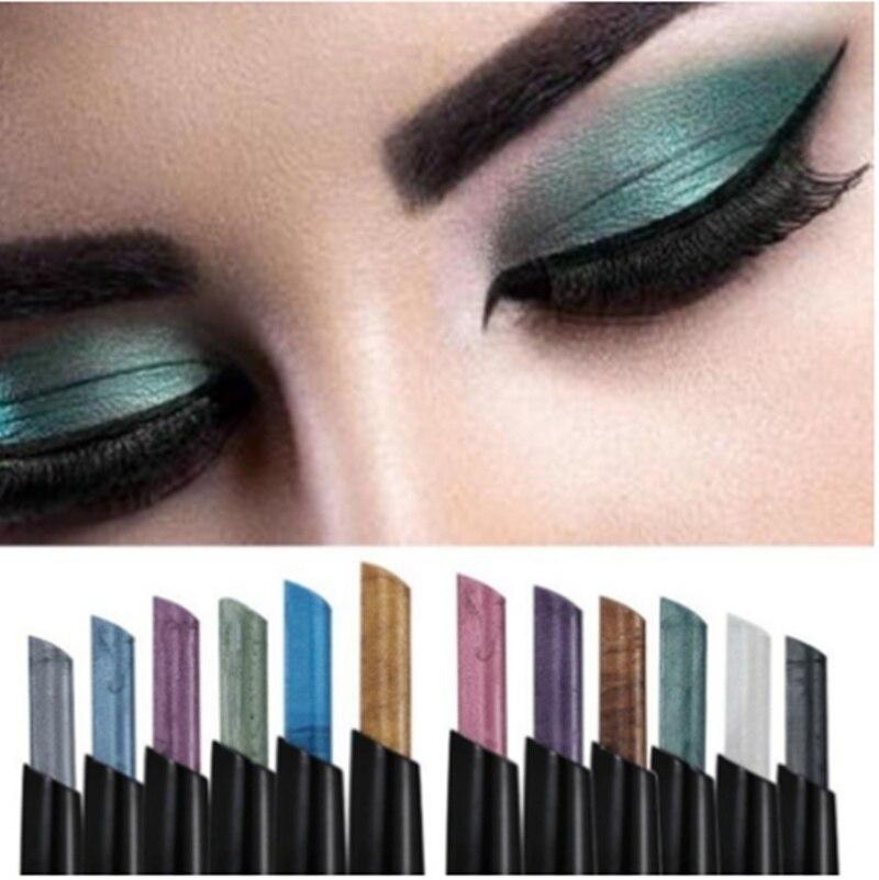 Дизайнерская ручка для макияжа, тени для век, водостойкие, холодного цвета, дымчатые, синие, зеленые, белые, музыкальные, цветочные тени для в...