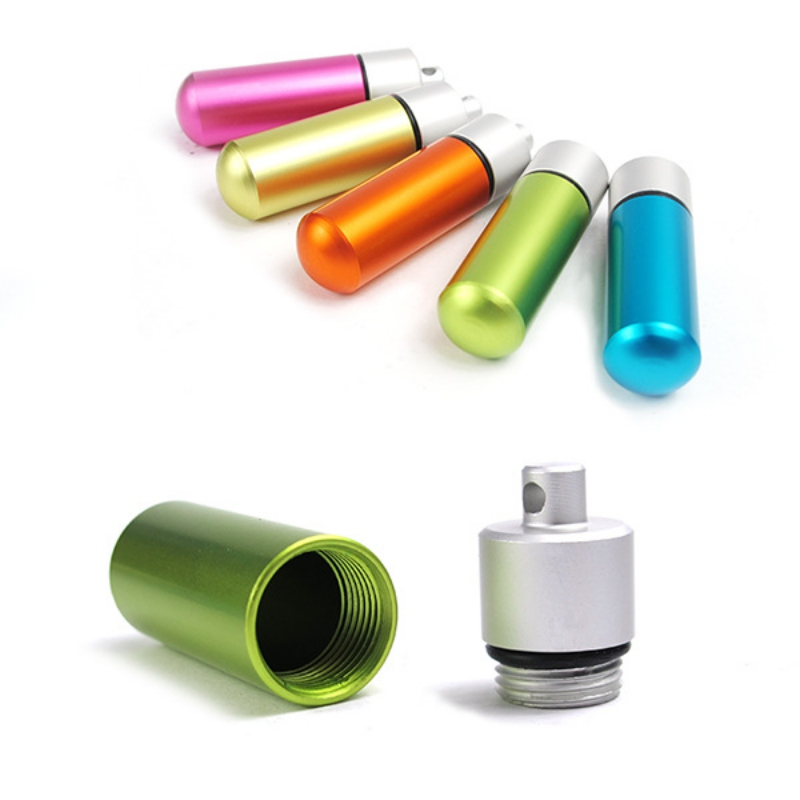 EDC Aluminum Waterproof Canister Case Portable Seal Capsule Container Bottle Tank Emergency Survival Pill Holder Outdoor Tool