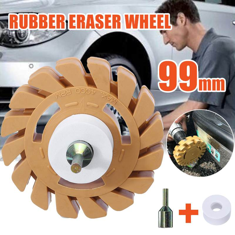 4 Inch 100mm Universal Rubber Eraser Wheel For Remove Car Glue Adhesive Sticker Pinstripe Decal Graphic Auto Repair Paint Tool