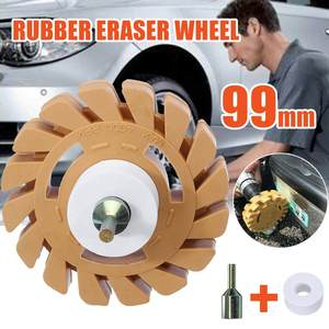 4 inch 100mm Universal Rubber Eraser Wheel For Remove Car Glue Adhesive Sticker Pinstripe Decal Graphic Auto Repair Paint Tool|Plastic & Rubber Care| |  -