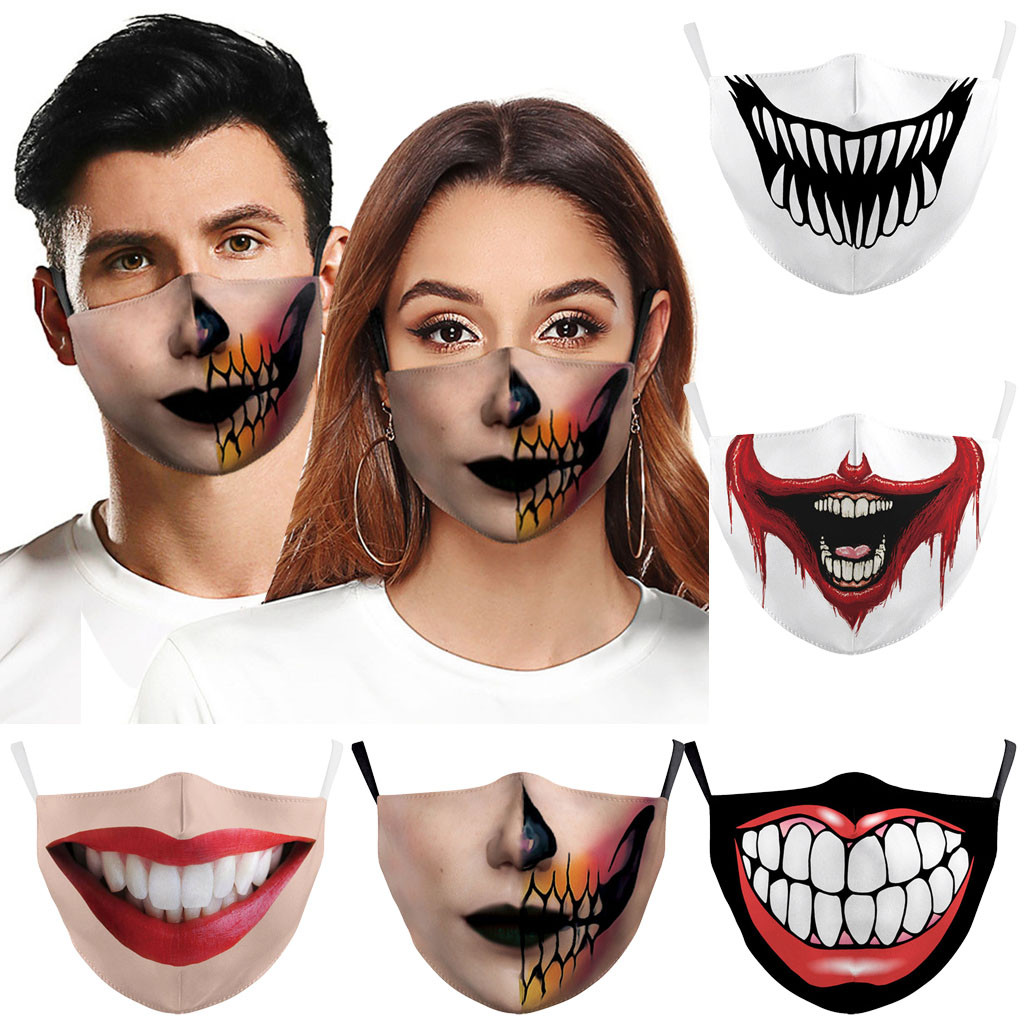 Unisex Reusable Anti-dust Protective PM.25 Dustproof Mouth Masks Cartoon Anime Printed Cosplay Face Masks Adults Masks Headwear