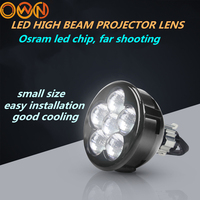 DLAND ZSD SINGLE HIGH BEAM LED PROJECTOR LENS LED FOG LIGHTS 3 AND 21W POWER WITH SEVEN PIECES LEDS