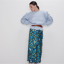 2020 ZA Spring New Women's Printed Skirt Fashion Flower Prin