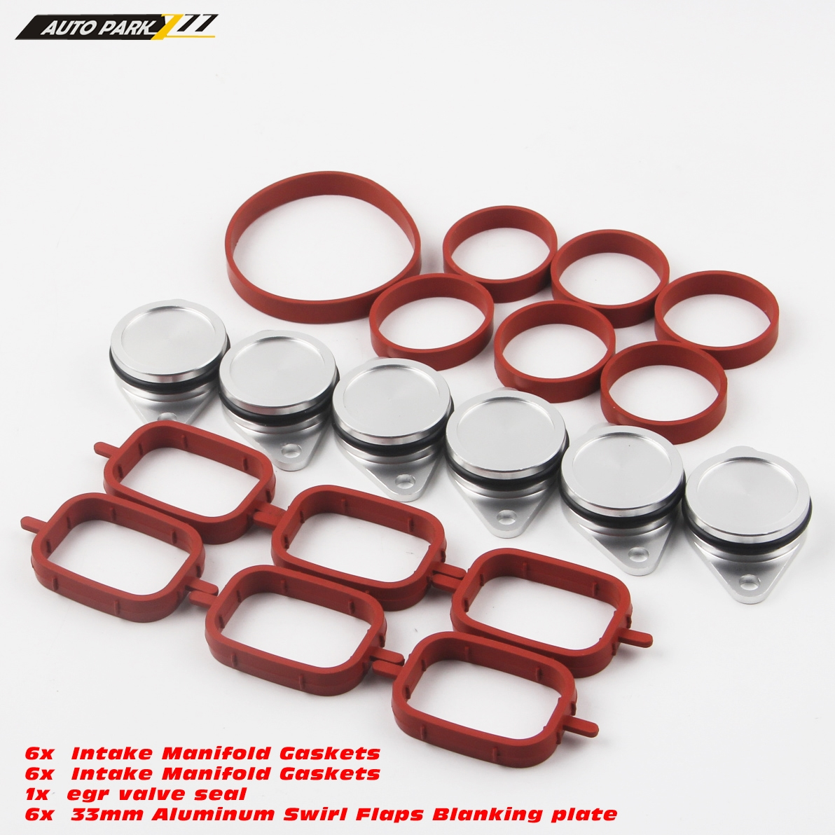 6pcs 32mm Swirl Flap Blanking Kit With ManIfold Gasket For BMW E46 E90 E65 E53 Micro Trader