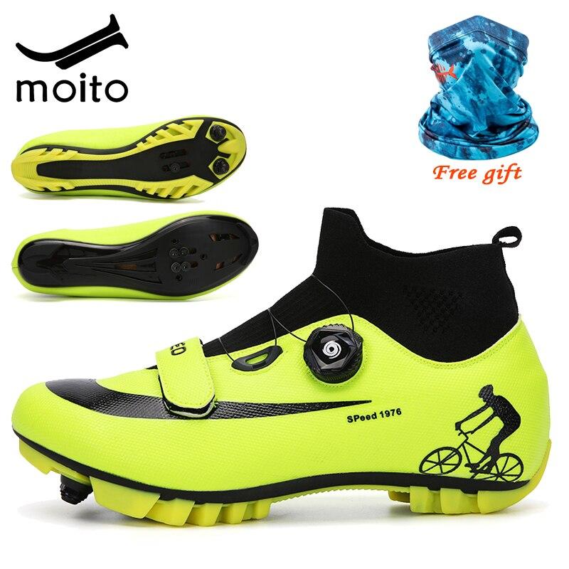Кроссовки велосипедные зимние унисекс, высокие кеды для горных велосипедов, профессиональная самозакрывающаяся обувь, размеры 47