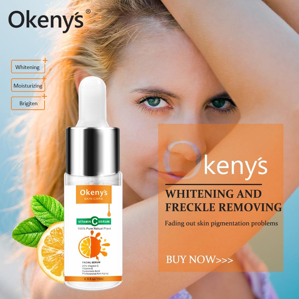 100% Pure Vitamin C Serum Liquid Freckle Removal Acne Scars Hyaluronic Acid Anti-wrinkle Anti Aging Vc Face Serum Fade Dark Spot
