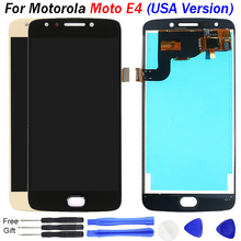 купить For Motorola Moto E4 LCD Display XT1767 XT1768 LCD Display Touch Screen Digitizer Assembly Replacement for Moto E4 lcd USA Versi дешево
