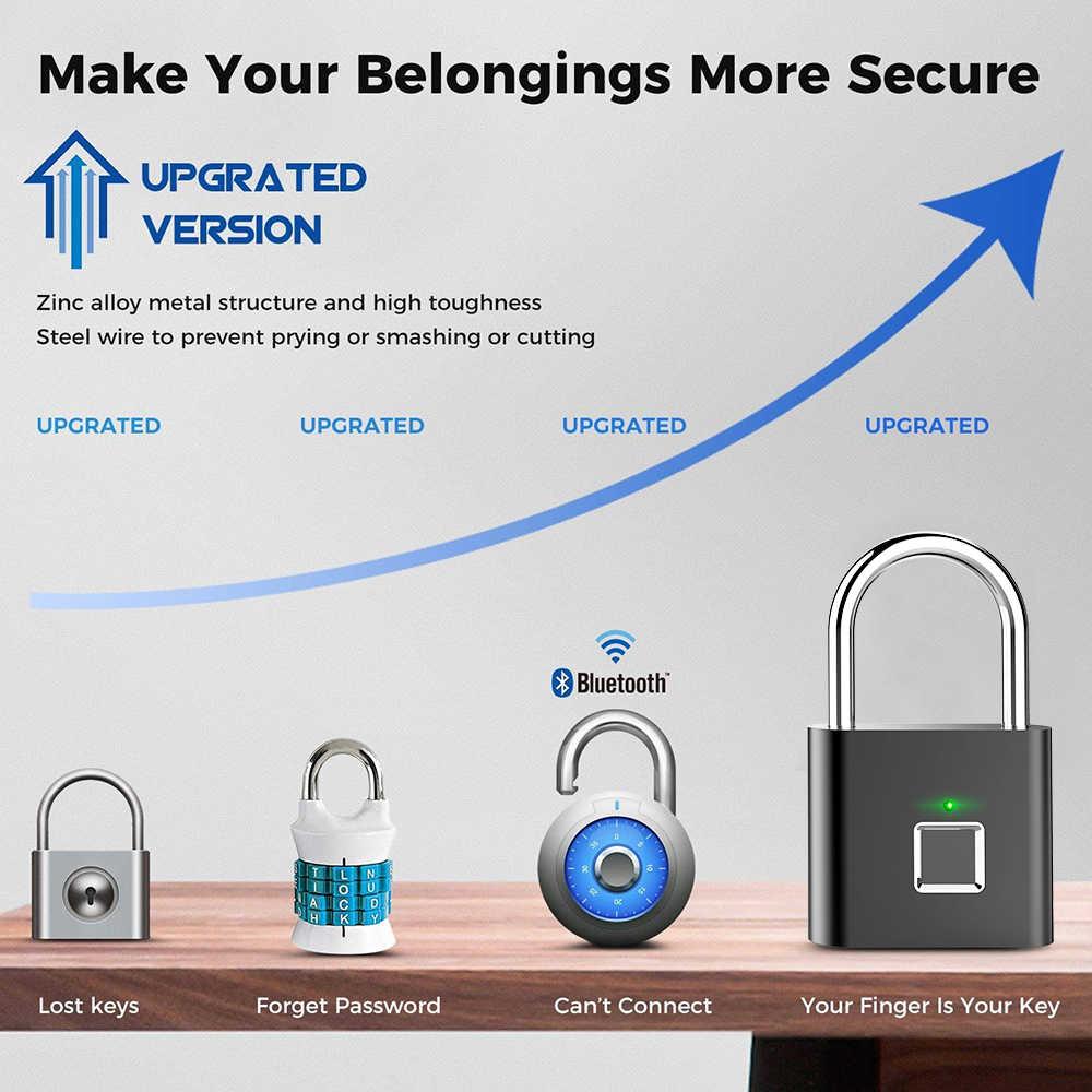 Золотой безопасности без ключа USB Перезаряжаемый биометрический дверной замок Умный Замок быстрая разблокировка цинковый сплав металлический Электрический замок IP65 Wa