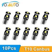 10pcs T10 W5W Led 전구 194 168 3030 칩 Canbus 오류 무료 Led 주차 전구 자동 쐐기 정리 램프 6000K 슈퍼 밝은 Led