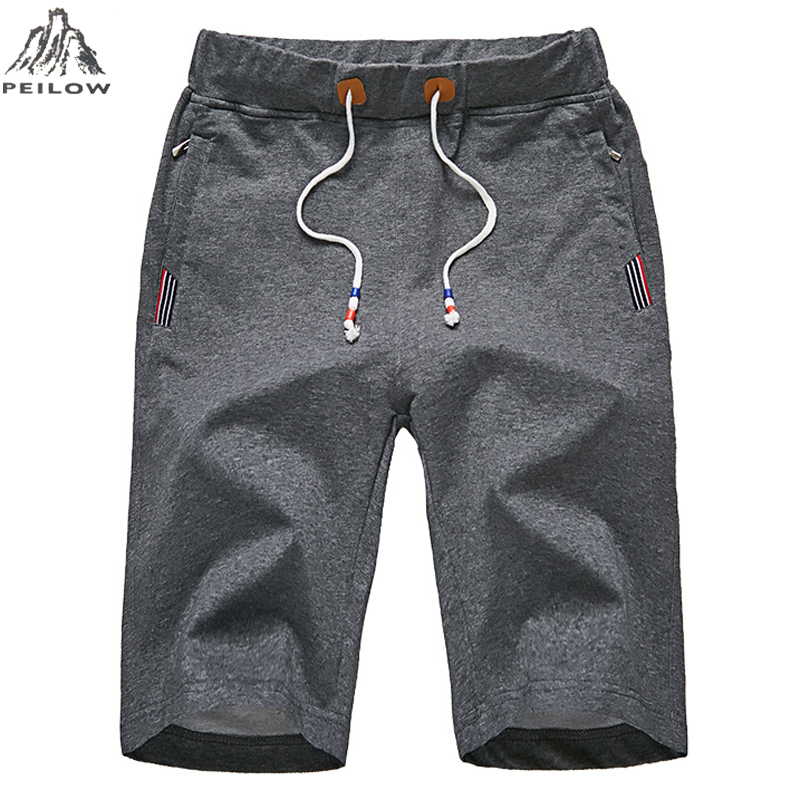 PEILOW Plus Size L~6XL,7XL,8XL Men's Shorts Summer Elastic Waist Beach Shorts Cotton Casual Male Shorts Homme Brand Clothing