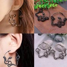 Boucles d'oreilles en forme de serpent noir, style gothique, Punk, Antique, bijoux de fête