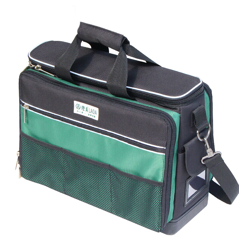 LAOA Tool Bag Instrument Case Multi-function Toolkit  Oxford Cloth After-sales Shoulder Bag Large Thick Canvas Electrical Bags