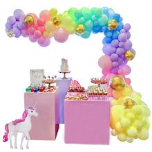 METABLE Unicorn Balloon Garland Arch Kit 16ft Long Pastel Rainbow Balloons Birthday Party Centerpiece Decorations for Girls Kids