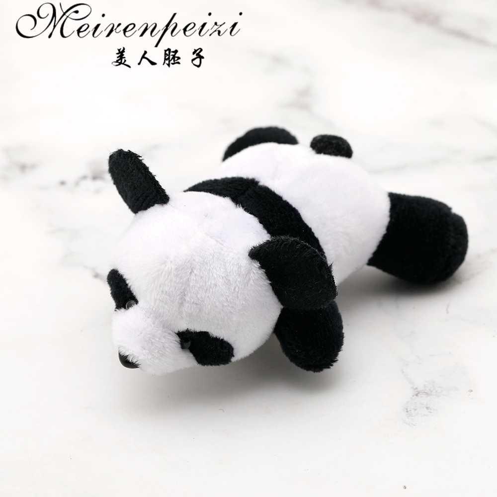 Meirenpeizi yeni tasarım peluş bebek panda broş sevimli eğilim vahşi eşarp toka pimleri ve broşlar hediyeler sevgilisi için