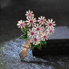 Tree-Brooches Wedding-Pin Flower Cindy Xiang Beautiful Cubic-Zirconia Women Jewelry Fashion
