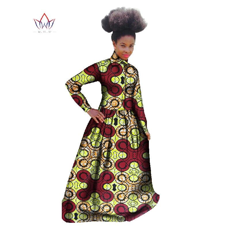 Afrikai ruha Afrikai női ruházat Hosszú ujjú Maxi ruha Bazin Rich - Női ruházat
