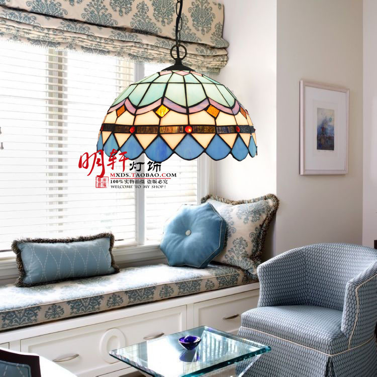 Crown Promotional Tiffany Lighting Lamps Bedroom Lamps Modern Minimalist Living Room Lamp Mediterranean Style Restaurant