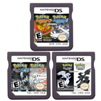 DS Video Game Cartridge Console Card Compilation Pokeon Black2 White2 HeartGold SoulSilver 2 In 1 for Nintendo DS 3DS 2DS 1