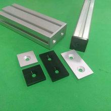 Piastra di copertura del tappo terminale Al con fori singoli o doppi per 2040 3060 4080 4590 6060 8080 profili in alluminio ue colore nero o argento