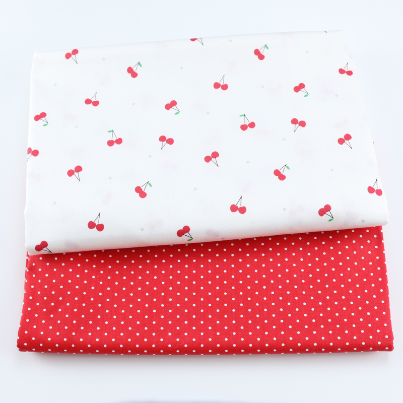 Cute Cherry 100% Cotton Twill Fabric For Baby Child, DIY Patchwork Cloth,Sewing Quilting Bed Sheet Dresses Materials Fabric