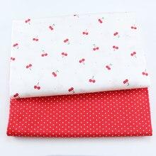 Tecido bonito da sarja do algodão da cereja 100% para a criança do bebê, pano de retalhos de diy, costurando a folha de cama estofando veste a tela dos materiais