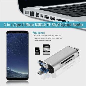 5 في 1 اكتب C OTG Card Reader مع واجهة USB للإناث للكمبيوتر USB 3.0 قراءة TF Memory Card Reader Adapter مستلزمات الكمبيوتر 1