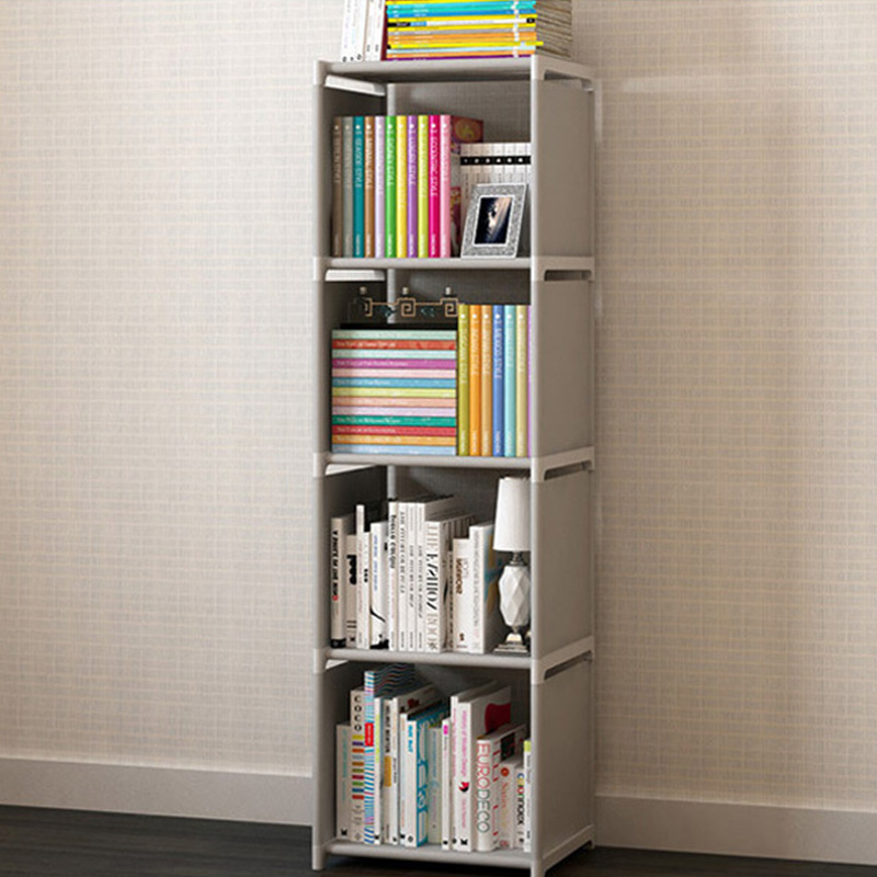 Image 3 - Bookshelf Storage Shelve for Books Simple Asemmbly Book Rack Bookcase for Home Furniture Boekenkast Home Furniture BookcaseBookcases   -