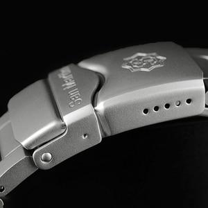 Image 5 - San Martin Bracelet métallique résistant à leau, sablage en acier inoxydable, sablage automatique, mécanique, saphir montre pour hommes lumineux