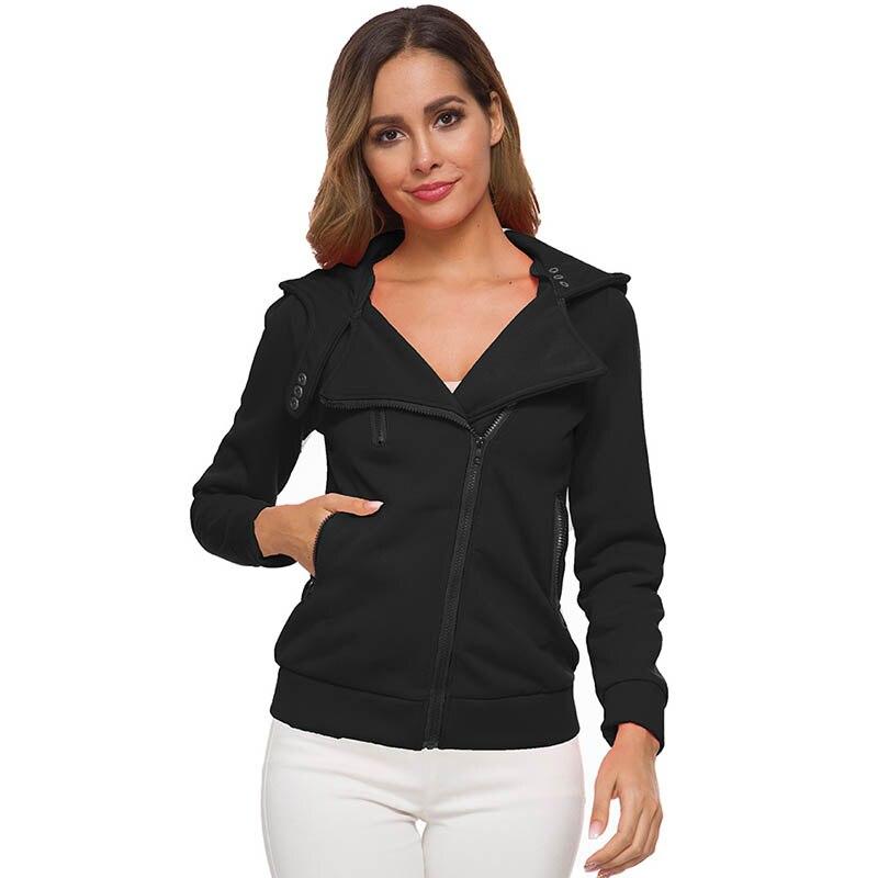 Women   Jacket   Hooded Fleece Female   Jacket   Coat Women Zipper Autumn Winter   Basic     Jacket   2019 Warm Pocket Outwear for Women