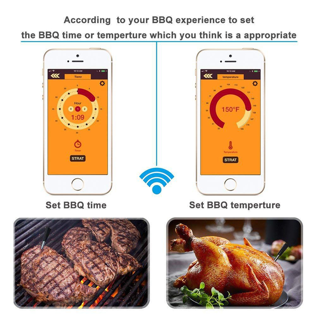 Bluetooth Lebensmittel Fleisch Steak Thermometer  3
