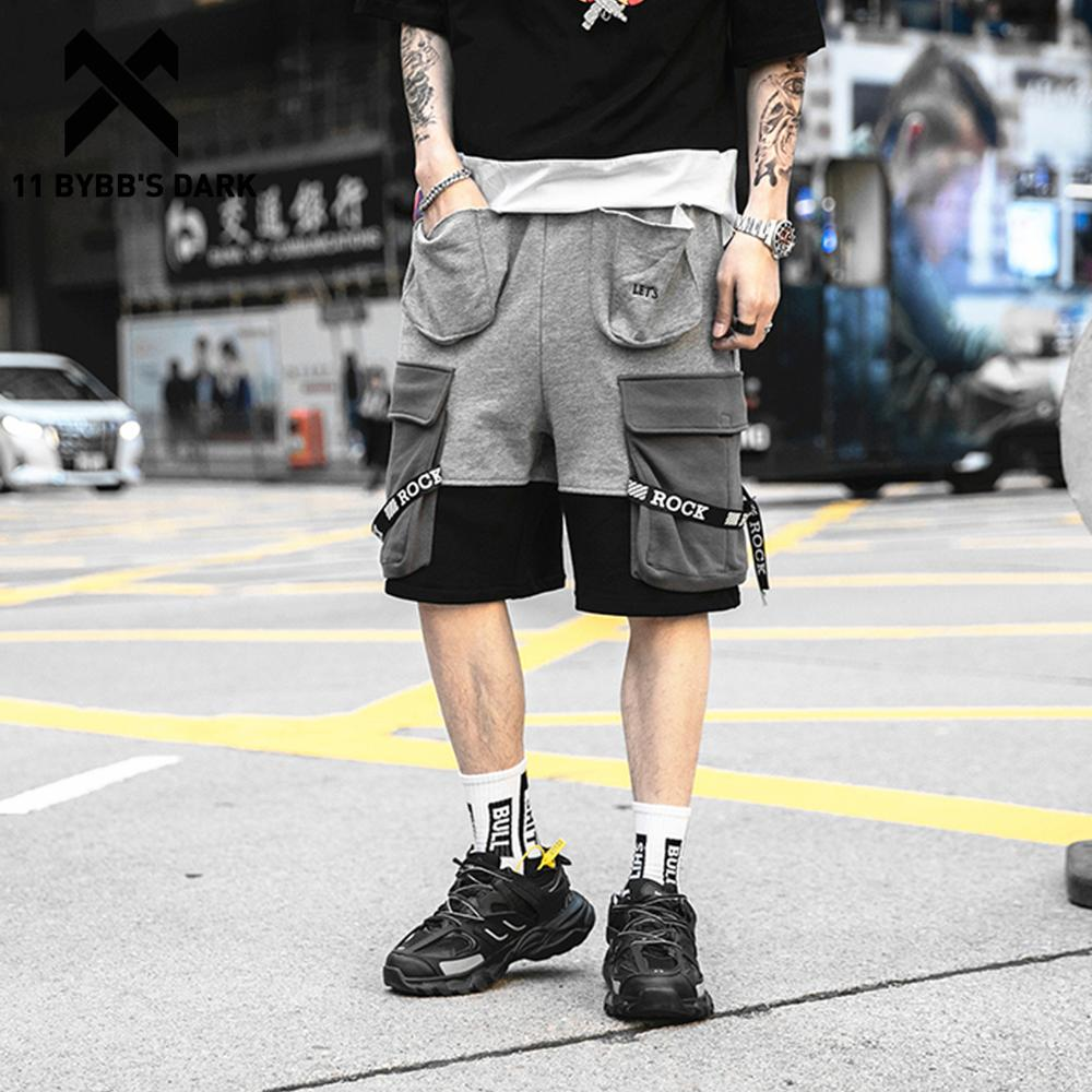 11 BYBB'S DARK Cargo Shorts Mens Hip Hop 2019 Summer Letter Print Pockets Casual Knee Length Male Short Joggers Streetwear