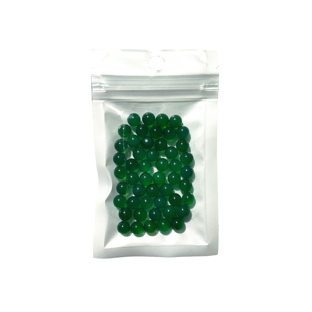 50pcs/Bag OD 6mm Terp Pearls Green Natural Agate Ball For Quartz Banger Nail Glass Bong 2