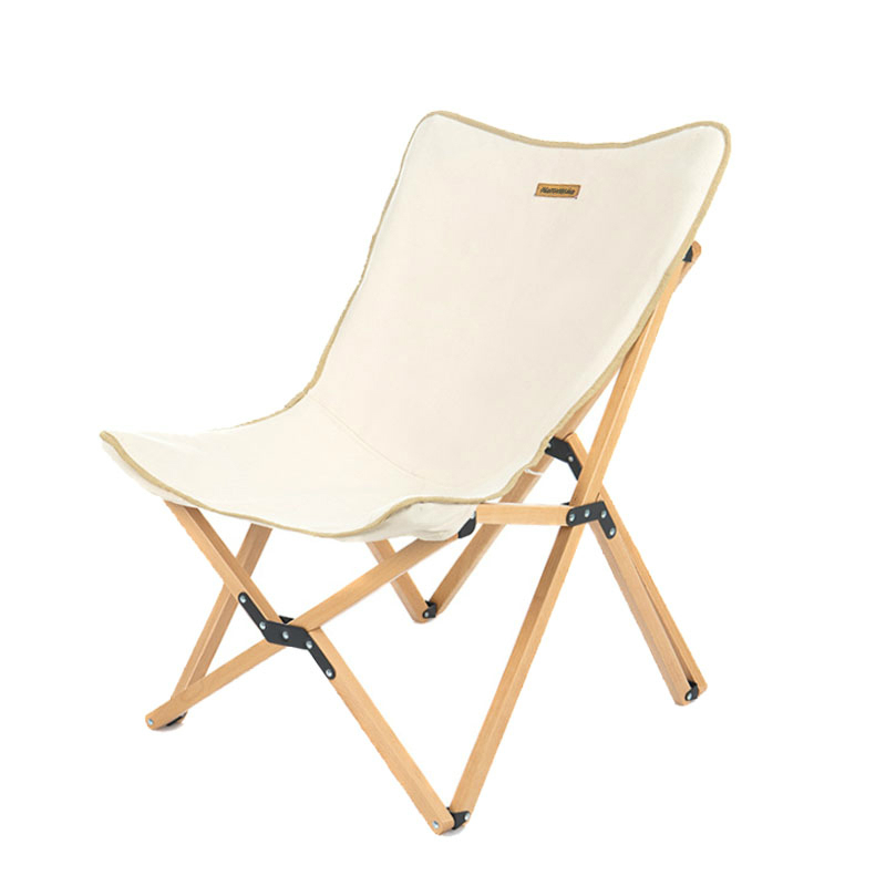 Portable beech Wooden Outdoor Camping Chair Indoor Garden Foldable Lazy Seat Fishing Picnic BBQ Folding Backrest Stool oem