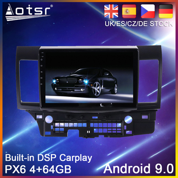 Android 10 PX6 64G Car DVD Player GPS Navigation For Mitsubishi Laner 10 2007-2015 Auto Radio Stereo Multimedia Player HeadUnit image
