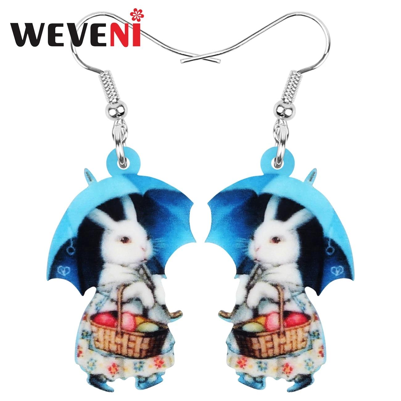 Easter Bunny Dangle Earrings